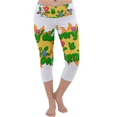 Earth Day Capri Yoga Leggings