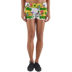 Earth Day Yoga Shorts