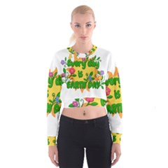 Earth Day Cropped Sweatshirt