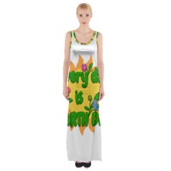 Earth Day Maxi Thigh Split Dress