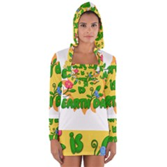 Earth Day Long Sleeve Hooded T-shirt