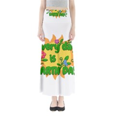 Earth Day Full Length Maxi Skirt