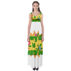 Earth Day Empire Waist Maxi Dress