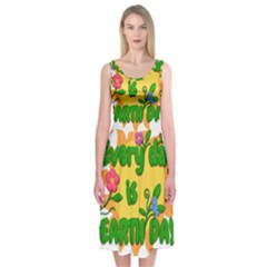 Earth Day Midi Sleeveless Dress