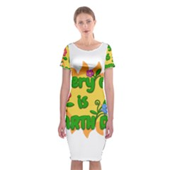 Earth Day Classic Short Sleeve Midi Dress