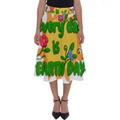 Earth Day Perfect Length Midi Skirt