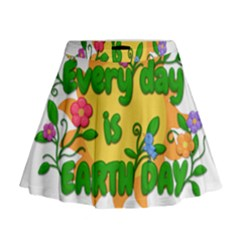 Earth Day Mini Flare Skirt