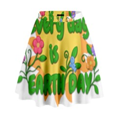 Earth Day High Waist Skirt