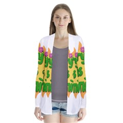 Earth Day Drape Collar Cardigan