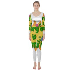 Earth Day Long Sleeve Catsuit by Valentinaart