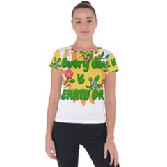 Earth Day Short Sleeve Sports Top