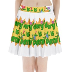 Earth Day Pleated Mini Skirt
