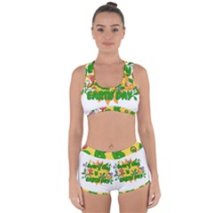 Earth Day Racerback Boyleg Bikini Set