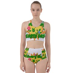 Earth Day Racer Back Bikini Set