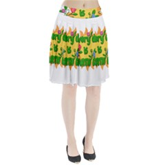 Earth Day Pleated Skirt