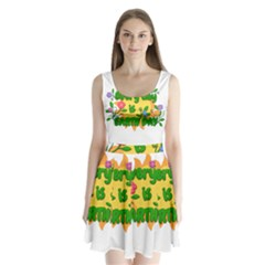 Earth Day Split Back Mini Dress