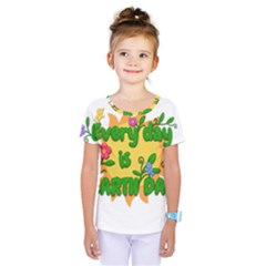 Earth Day Kids  One Piece Tee