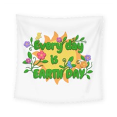 Earth Day Square Tapestry (Small)
