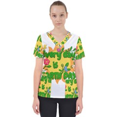 Earth Day Scrub Top