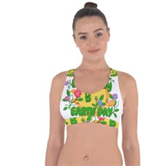 Earth Day Cross String Back Sports Bra