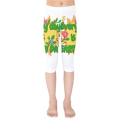 Earth Day Kids  Capri Leggings