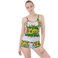 Earth Day Boyleg Tankini Set