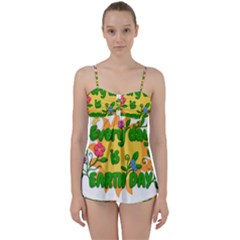 Earth Day Babydoll Tankini Set