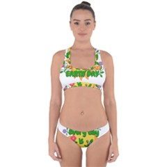 Earth Day Cross Back Hipster Bikini Set