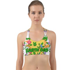 Earth Day Back Web Sports Bra