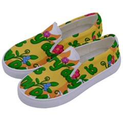 Earth Day Kids  Canvas Slip Ons