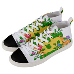 Earth Day Men s Mid-Top Canvas Sneakers