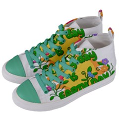 Earth Day Women s Mid-Top Canvas Sneakers