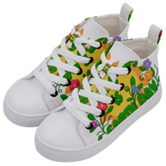 Earth Day Kid s Mid-Top Canvas Sneakers