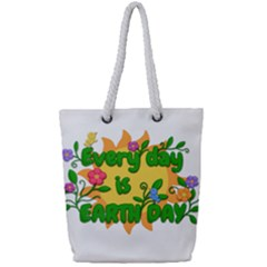 Earth Day Full Print Rope Handle Tote (Small)