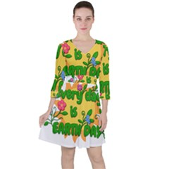 Earth Day Ruffle Dress