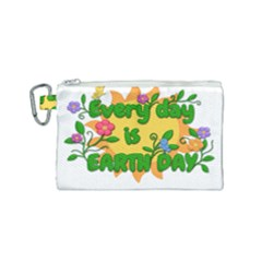Earth Day Canvas Cosmetic Bag (Small)