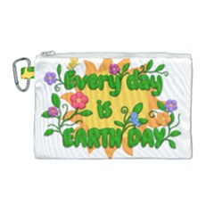 Earth Day Canvas Cosmetic Bag (Large)