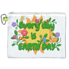 Earth Day Canvas Cosmetic Bag (XXL)