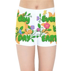 Earth Day Kids Sports Shorts by Valentinaart