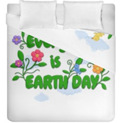 Earth Day Duvet Cover Double Side (king Size) by Valentinaart
