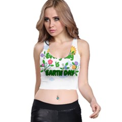 Earth Day Racer Back Crop Top
