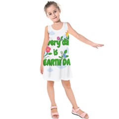Earth Day Kids  Sleeveless Dress by Valentinaart