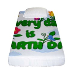 Earth Day Fitted Sheet (single Size) by Valentinaart