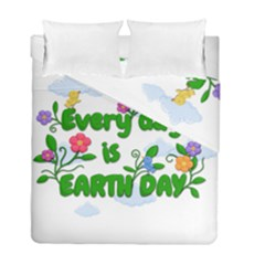 Earth Day Duvet Cover Double Side (full/ Double Size)