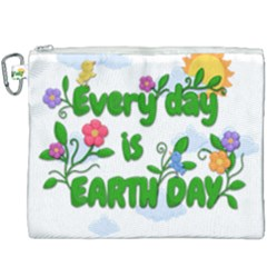 Earth Day Canvas Cosmetic Bag (xxxl) by Valentinaart