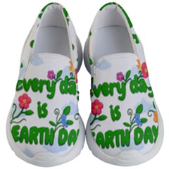 Earth Day Kid s Lightweight Slip Ons by Valentinaart