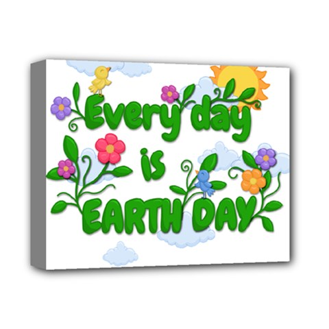 Earth Day Deluxe Canvas 14  X 11  by Valentinaart