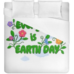 Earth Day Duvet Cover (king Size) by Valentinaart