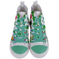 Earth Day Women s Mid Top Canvas Sneakers