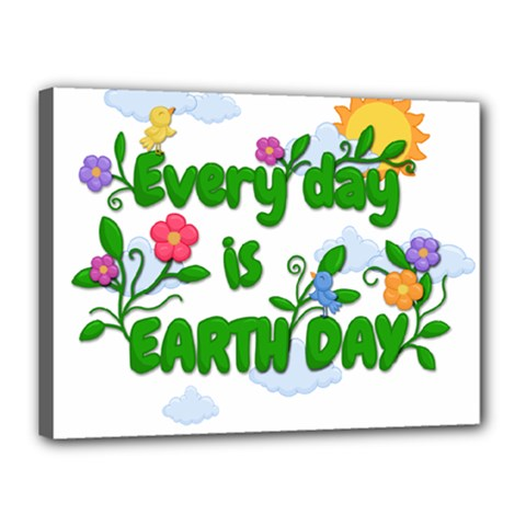 Earth Day Canvas 16  X 12  by Valentinaart